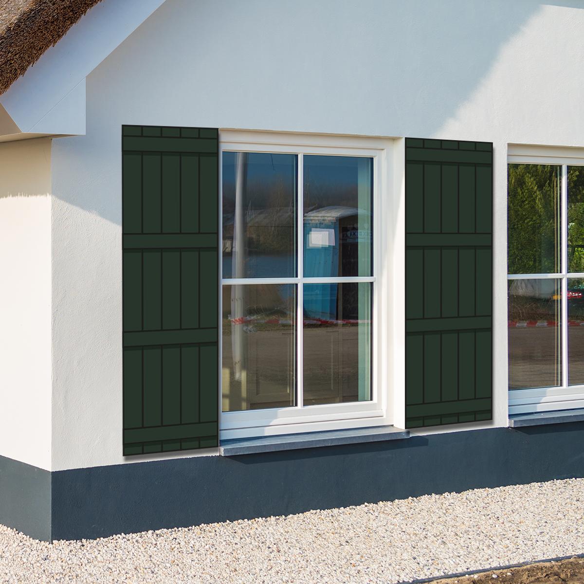 huis met groene raamluiken model barn