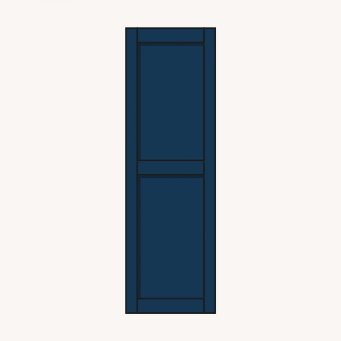 raamluik panel blauw